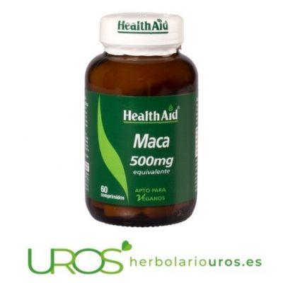 Maca HealthAid - cápsulas de maca pura de lab. HealthAid - remedio natural que aporta energía y vitalidad