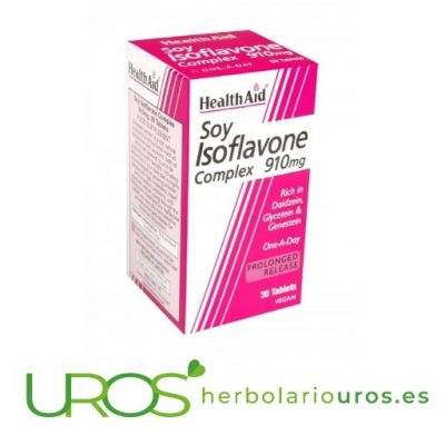 Isoflavonas de Soja Health Aid Ayuda natural en menopausia Complejo de Isoflavonas de Soja de HealthAid Una ayuda natural para la mujer en menopausia, mayor equilibiro hormonal y como ayuda para prevenir la osteoporosis