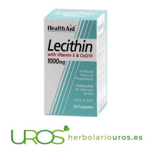 Lecitina de soja con vitamina E y coenzima Q10 de Health Aid