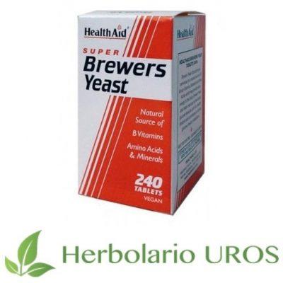 Levadura de cerveza de HealthAid - sus beneficios y propiedades para el pelo