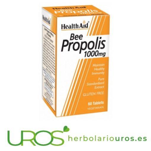 Propóleo puro para tu garganta en comprimidos de Health Aid Propiedades de propóleo puro - Propolis en comprimidos Todos los beneficios del propolis en comprimidos de laboratorios naturales HealthAid