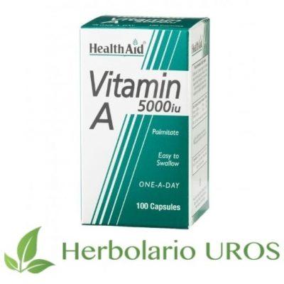 Vitamina A pura en cápsulas de HealthAid - Vitamina A para tu pelo y piel.
