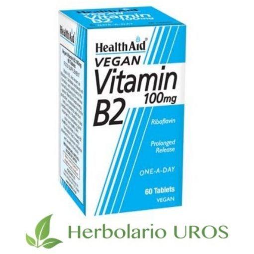 Vitamina B2 en pastillas de HealthAid : Vitamina B2 en comprimidos.
