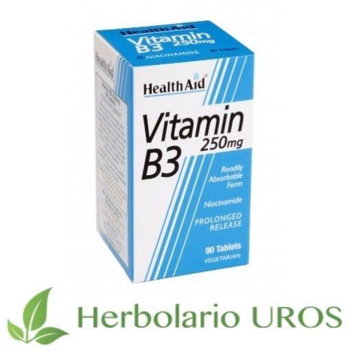 Vitamina B3 HealthAid en pastillas