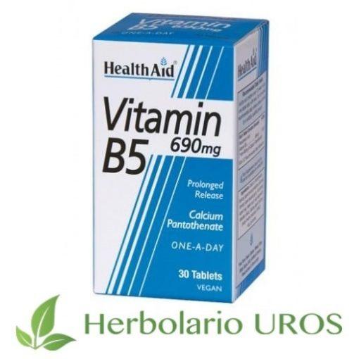 Vitamina B5 de HealthAid en comprimidos - propiedades y beneficios