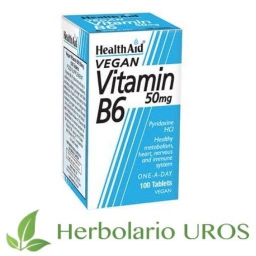 Vitamina B6 en comprimidos en HealthAid