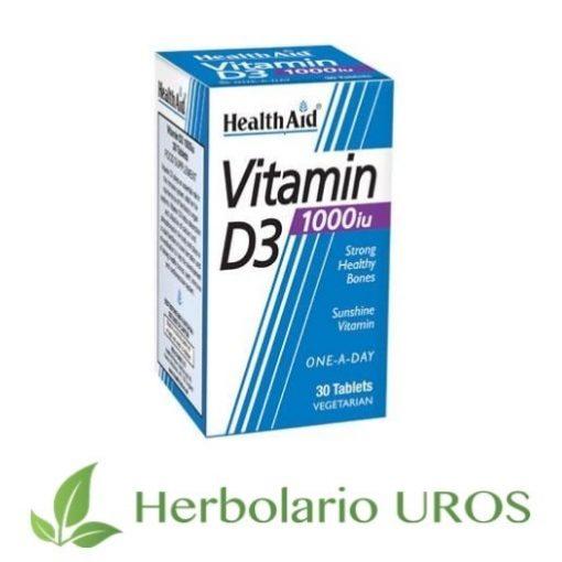 Vitamina D3 en pastillas de HealthAid