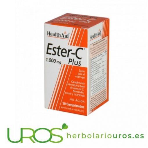 Ester-C Plus 1000 mg - Vitamina C de Health Aid Ester-C 1000 mg es un suplemento natural a base de Vitamina C pura Un remedio natural para resfriados, gripe y una ayuda natural para tu sistema inmune