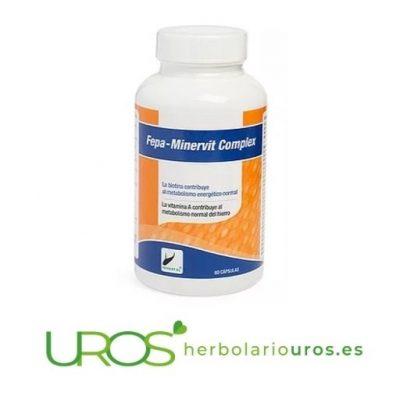 Fepa-Minervit - vitaminas y minerales en cápsulas - Fepa MinerVit es un remedio natural que aporta energía - multivitamínico que necesitas