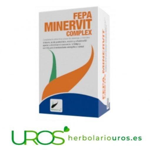 Para tu sistema inmune: Fepa Minervit Complex - tu multivitamínico con minerales y vitaminas para tu energía Para tus defensas - Minervit: Fepa MinerVit es un multivitamínico completo pensado para aportar energía a tu organismo Suplemento pensado para aportarte vitaminas y minerales - la energía que necesitas