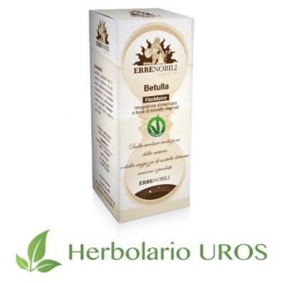 Abedul en tintura espagíricia - un remedio natural de laboratorios Erbenobili como depurativo