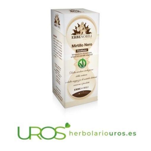 Arándano en tintura de laboratorios Erbenobili - arándano en líquido como una ayuda para la circulación