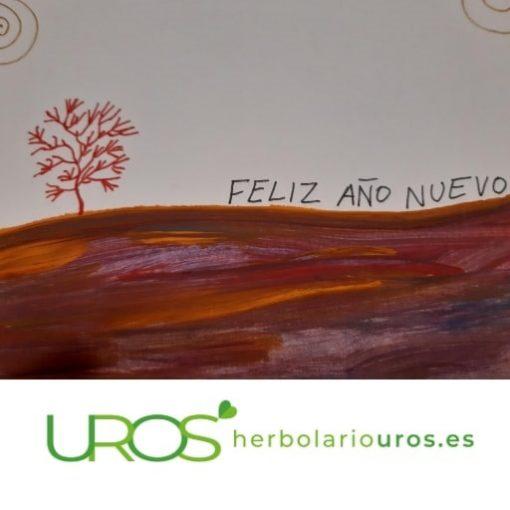 Tarjetas de navidad pintadas a mano - postales navideñas para regalar - felicitaciones artesanales