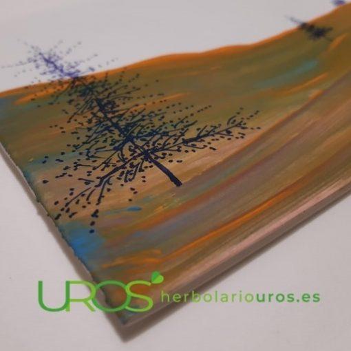 Tarjetas de navidad pintadas a mano - postale navideñas artesanales