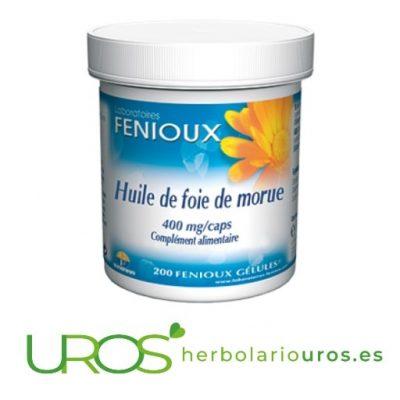 Cápsulas de aceite de hígado de bacalao de Fenioux Aceite de hígado de bacalao en cápsulas - sus propiedades y beneficios Aceite puro de hígado de bacalao ¿Para qué sirve? ¿Cuáles son sus beneficios?