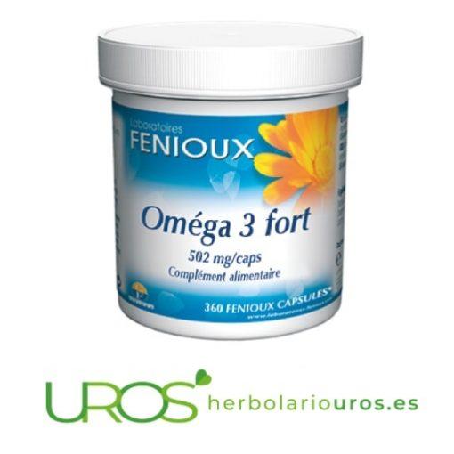 Omega 3 Fuerte de Fenioux - OMEGA 3 para tu corazón Omega 3 Fuerte de laboratorios naturales Fenioux en perlas Suplemento natural para bajar los niveles altos de colesterol, para la salud de tu corazón y para el sistema nervioso- también como una ayuda natural en casos de depresión