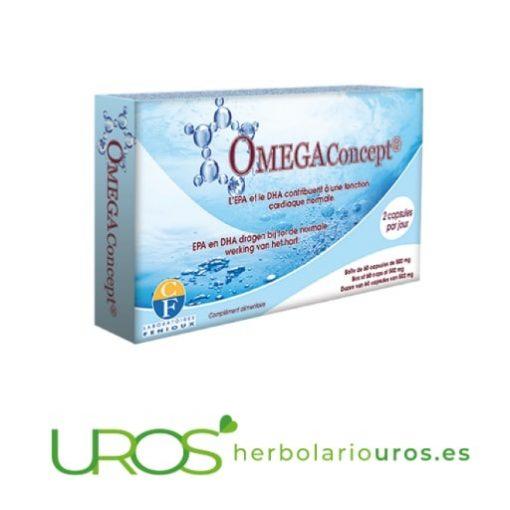 OmegaConcept de Fenioux - tu función cardíaca natural Omega Concept de laboratorios naturales Fenioux en cápsulas Suplemento natural para bajar los niveles altos de colesterol, para la salud de tu corazón y para el sistema nervioso- también como una ayuda natural en casos de depresión