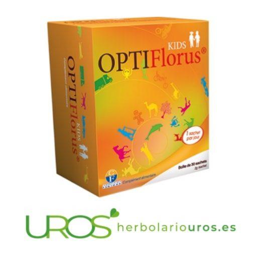 OptiFlorus KIDS de Fenioux: Ayuda para la digestión en niños OptiFlorus KIDS Fenioux - cepas microbióticas para mejor digestión - específico para menores Para una buena digestión en niños de manera natural - probióticos para mejorar tu digestión - una combinación perfecta de prebióticos y probióticos
