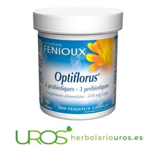 OptiFlorus - una ayuda natural para tu digestión OptiFlorus de Fenioux - cepas microbióticas para tu mejor digestión Para una buena digestión de manera natural - probióticos para mejorar tu digestión - una combinación perfecta de prebióticos y probióticos