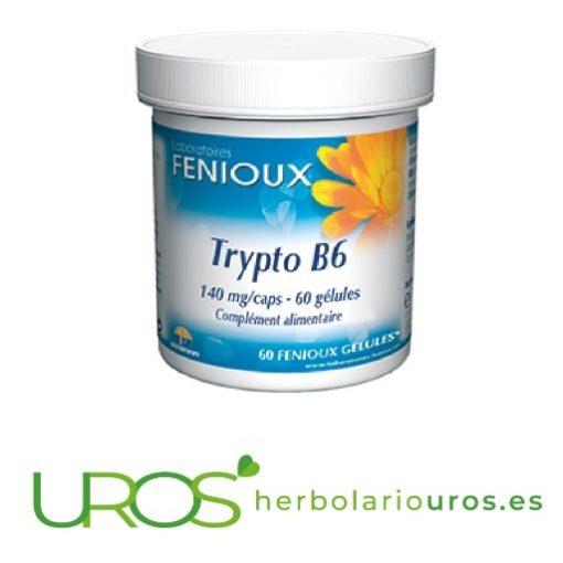 Trypto B6 de Fenioux - ayuda para tu bienestar emocional Trypto B6 de laboratorios naturales Fenioux Remedio natural que te ayuda en casos de desánimo y depresión - contiene vitamina B6, magnesio y L-Triptófano
