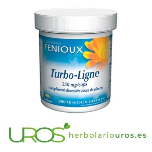 Turbo Ligne Fenioux - para el control de peso y menos grasas Turbo-Ligne Fenioux: ayuda para quemar las grasas y contra la celulits Los componentes de Turbo-Ligne de Fenioux te ayudan a quemar las grasas y así controlar el peso corporal naturalmente