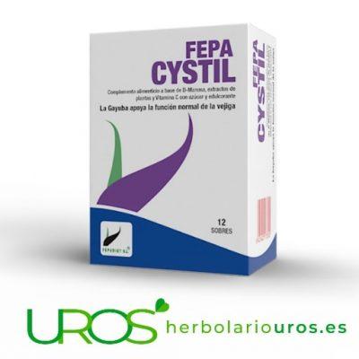 Fepa Cystil - ayuda para tu sistema urinario e infecciones Fepa Cystil es una ayuda en caso de infecciones de vías urinarias Remedio para el funcionamiento de tu vejiga y ayuda natural para tu sistema urinario