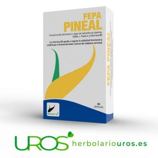 Fepa Pineal - remedio natural para tu sistema nervioso Complemento natural para tu bienestar emocional y hormonal Fepa Pineal te aporta vitamina B6, aminoácidos GABA y L-Teaina para tu tranquilidad y un buen funcionamiento del sistema nervioso