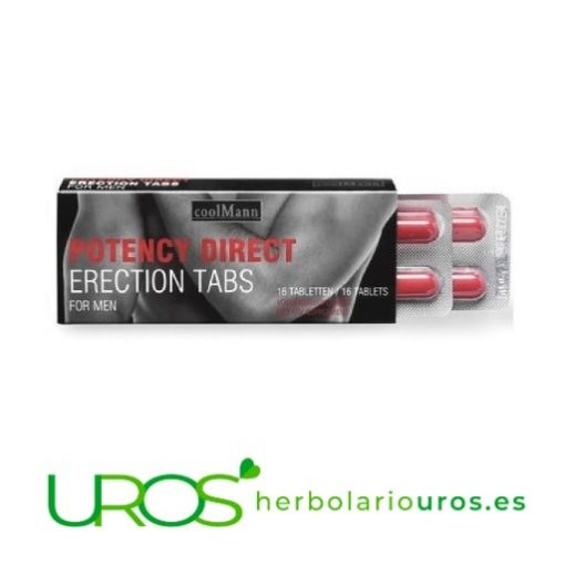 Potency direct - estimulante sexual masculino Complemento alimenticio masculino con efecto rápido Un vigorizante natural con acción rápida para hombres - Potency Direct Erection Tabs