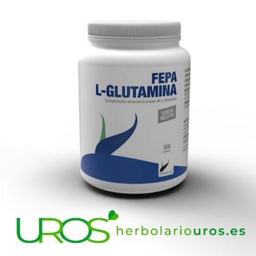 Fepa L-Glutamina en polvo - 500 g sabor neutro Fepa L-Glutamina pura – 500 gramos de glutamina en polvo - sabor neutro Glutamina en polvo sabor neturo en caso de intenso desgaste muscular – 500 g
