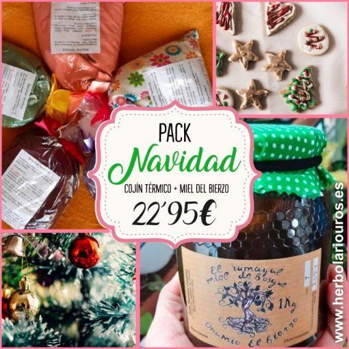 Pack navidad - regala salud, regala miel y cojin térmico