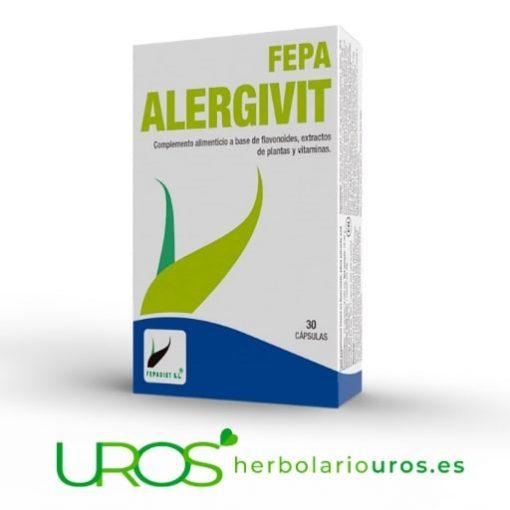 Fepa AlergiVit - alivio de los síntomas de las alergías Fepa Alergivit - tu remedio natural para los síntomas de las alergías Los compomentes de Fepa Alergivit te ayudan en los síntomas de la alergía como la tos, los estornudos y los ojos llorosos