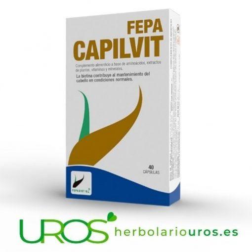 Fepa Capilvit - tu pelo nutrido y sano Fepa Capilvit - para una buena salud de tu cabello - tu pelo bien nutrido Fepa Capilvit - para una buena salud de tu cabello - tu pelo bien nutrido con todos los nutrientes de este suplemento específico