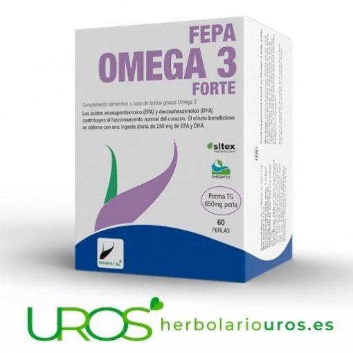 Fepa Omega 3 Forte - tu envase grande de 60 perlas para dos mesas Para tu corazón y tu cerebro - omega tres en dosis altas Gran aporte de EPA y DHA por cada perla - en tu envase grande para dos meses